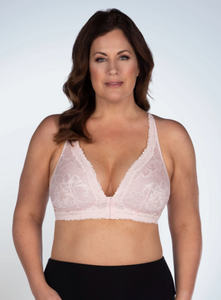 5071 Nola - Lace Wireless Front Close Bralette - Pearl Pink