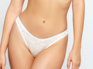 Lace Caged Thong 7001 - White
