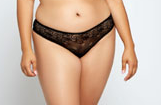 Lace Caged Thong 7001 - Black