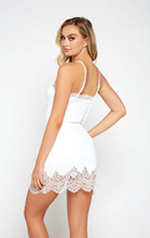 Load image into Gallery viewer, Lace Trimmed Chemise 78001 - White
