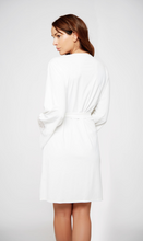 Load image into Gallery viewer, Lace Trimmed Robe 78002 - White