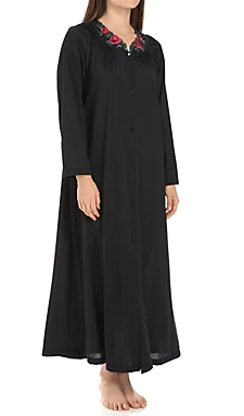 Long Sleeve Button Down Robe 71280 - Black
