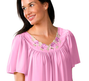 Short Flutter Sleeve Nightgown 36280 - Orchid