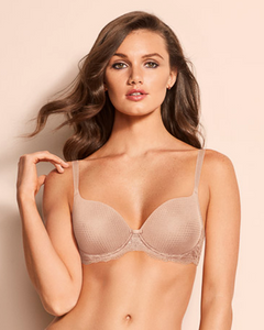 Elegant Touch Underwire Padded T-Shirt Bra 90009 - Neutral Beige