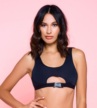 Load image into Gallery viewer, Buckle Up Bralette 34075B - Black