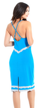 Load image into Gallery viewer, Lace Trim Chemise 7904 - Blue