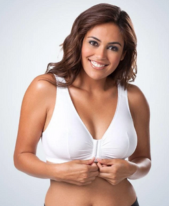 110 Meryl - Front Close Leisure Bra - White