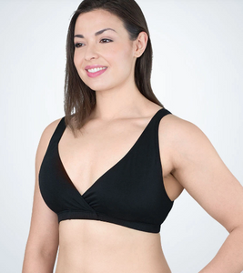 Serenity - Ultra Soft Sleep, Leisure or Nursing Bralette 4502 - Black