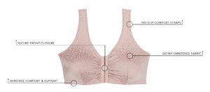 Lena - Front Close Sleep, Leisure or Nursing Bra 5420 - Warm Sand