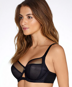 Victory Side Support Balcony Bra - Black