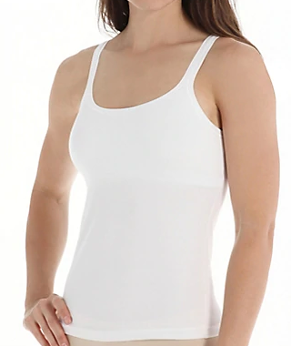 Stretch Cotton Shelf Bra Camisole 4553 - White