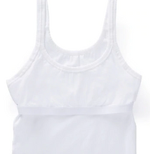 Load image into Gallery viewer, Stretch Cotton Shelf Bra Camisole 4553 - White