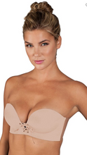Load image into Gallery viewer, U Plunge Cleavage Enhancement Backless Strapless Bra 29708 - Beige