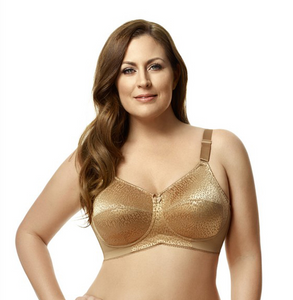 Leopard Lace Soft Cup Wireless Bra 1203 - Mocha