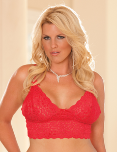 Lace Camisole Bralette 3229B - Red