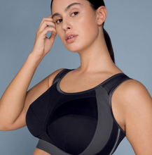 Load image into Gallery viewer, Extreme Control Plus Sports Bra - Black/Anthracite