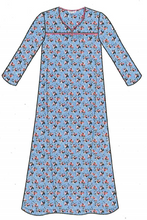Load image into Gallery viewer, Flannel Long Gown 11435 - Daisy