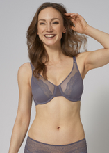 Load image into Gallery viewer, Lace Spotlight Underwire Bra - Purple Slate