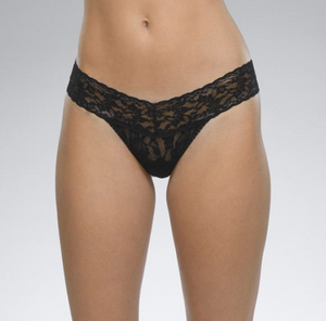 Original Rise Signature Lace Thong One Size - Various colours