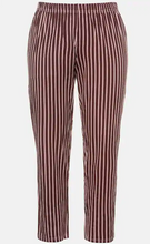 Load image into Gallery viewer, Regency Stripe Stretch Knit Button Pajamas 74922654 - Bordeaux Red
