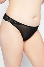 Load image into Gallery viewer, Lace Thong 78106110 - Black