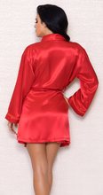 Load image into Gallery viewer, Satin Robe 7854 - Red