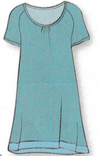 Load image into Gallery viewer, Charlotte Short Sleeve Sleepshirt L1003-61 - Turquoise