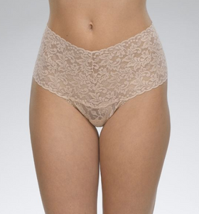 Retro Signature Lace Thong One Size - Various colours