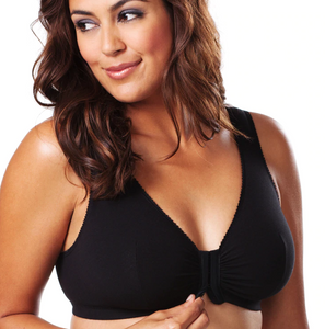 110 Meryl - Front Close Leisure Bra - Black