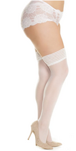 Load image into Gallery viewer, Here Waiting Stay-up Thigh Highs 1906 - White