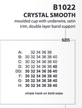 Load image into Gallery viewer, Crystal Smooth Bra - various colours