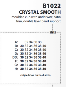 Crystal Smooth Bra - Turquoise