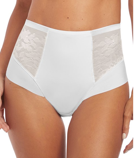 Illusion High Waist Brief - Rose or white