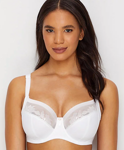 Illusion Side Support Bra - White