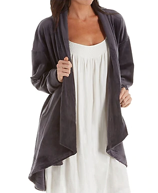 Velvet Fleece Open Cardigan