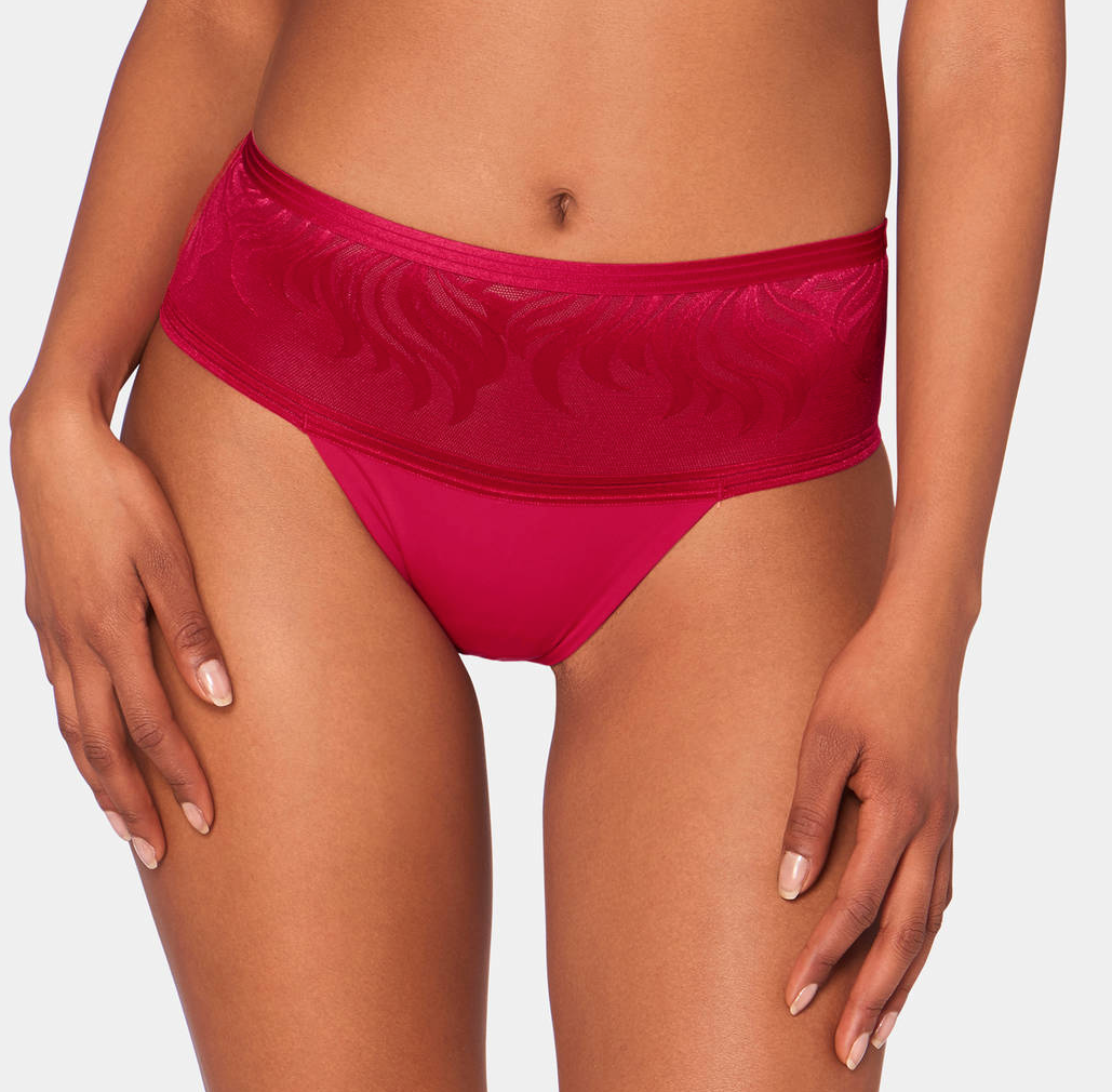 Palm Spotlight Hipster Thong - Mars Red