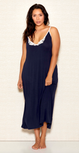 Load image into Gallery viewer, Modal Applique Gown 7804 - Navy