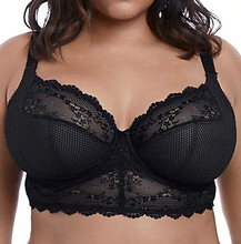 Load image into Gallery viewer, Charley Underwire Plunge Longline Bra - Black