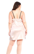 Load image into Gallery viewer, Satin & Lace Chemise 7919 - Blush