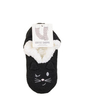 Load image into Gallery viewer, Coffee Shoppe Critter Ankle Slippers - Cat