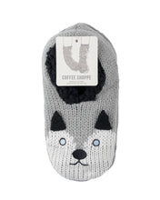 Load image into Gallery viewer, Coffee Shoppe Critter Ankle Slippers - Husky