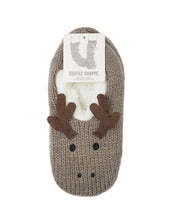Load image into Gallery viewer, Coffee Shoppe Critter Ankle Slippers - Moose