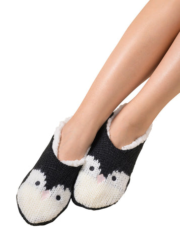 Coffee Shoppe Critter Ankle Slippers - Penguin