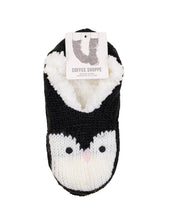 Load image into Gallery viewer, Coffee Shoppe Critter Ankle Slippers - Penguin