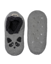 Load image into Gallery viewer, Coffee Shoppe Critter Ankle Slippers - Raccoon