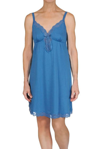 100% Cotton Carmen Chemise 44504 - Slate Blue