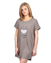 Load image into Gallery viewer, Coffee Shoppe Graphic Sleep Shirt - No Drama Llama