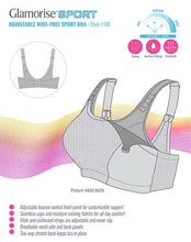 Load image into Gallery viewer, 1166 Double Layer Wireless Adjustable Control Sport Bra - Grey and White