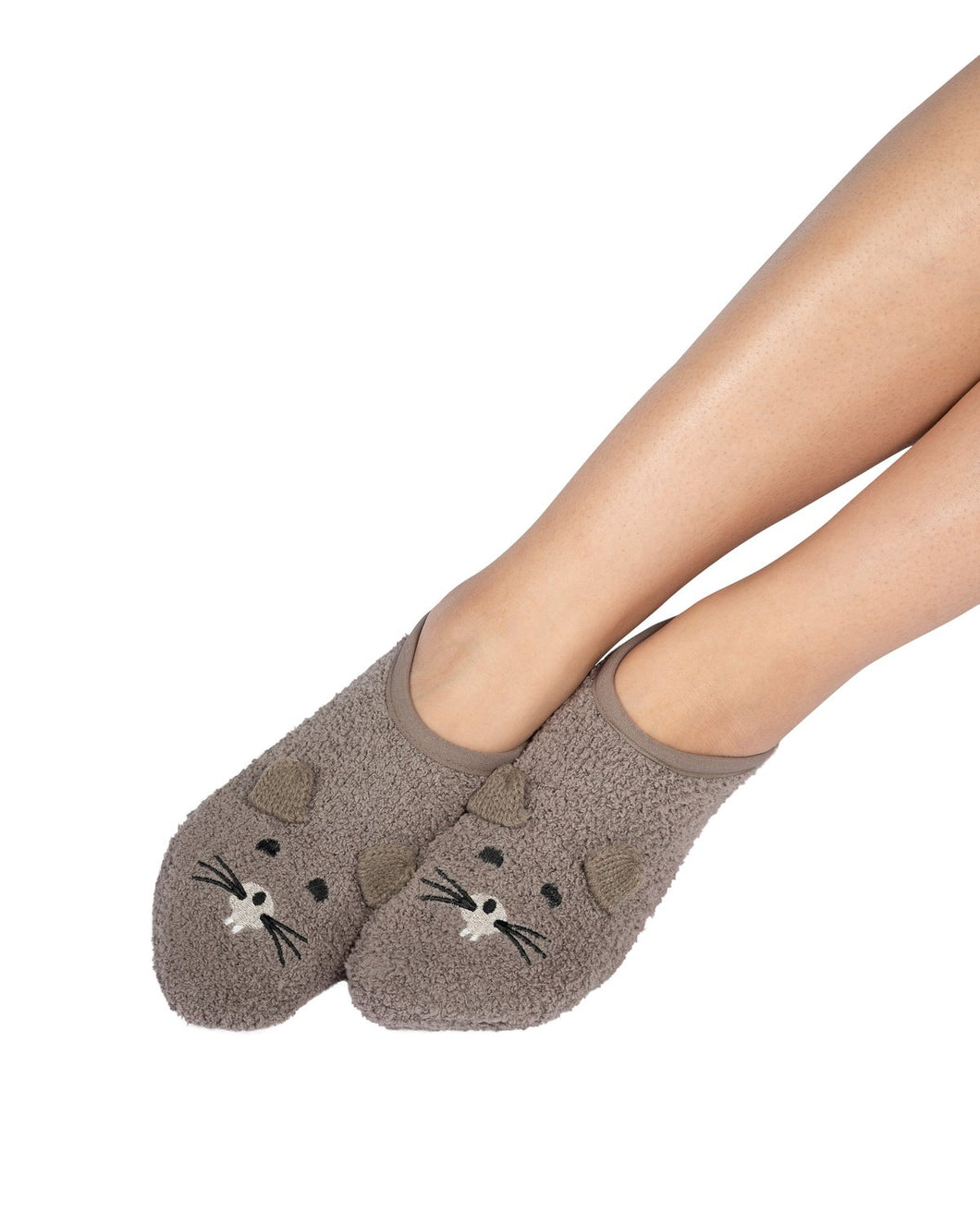 Coffee Shoppe Marshmallow Critter Footlet Slippers - Gopher