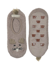 Load image into Gallery viewer, Coffee Shoppe Marshmallow Critter Footlet Slippers - Gopher